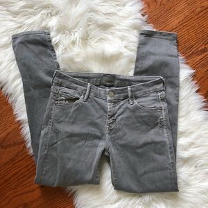 Mother grey wash skinny jeans